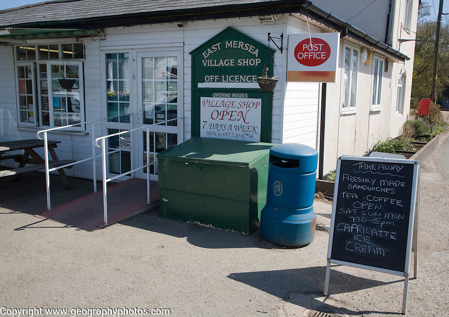Village shop and post office, East Mersea, Essex, England