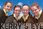 Leaving Cert and Junior Cert students after sitting the first English paper on Wednesday at the Listowel Presentation Convent were Rebecca Stapleton, Katie Scanlon, Rose O' Connor and Bridget McCarthy.   Copyright Kerry's Eye 2008