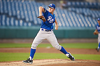 Jared Poche #49 of Lutcher High School in Lutcher, Louisiana playing for the Kansas City Royals scout team during the East Coast Pro Showcase at Alliance Bank Stadium on August 1, 2012 in Syracuse, New York.  (Mike Janes/Four Seam Images)