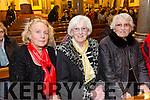 Enjoying the Liam Lawton Concert ' O Holy Night' at Castleisland Parish Church  in aid of Brosna Parish Church Renovation Fund on Monday were Betty Walsh, Maureen O'Connor, Mary Whitaker from Castleisland