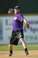 Stephen Drew of the Lancaster JetHawks plays in a California League baseball game during the 2005 season in Lancaster, California. (Larry Goren/Four Seam Images)