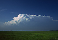 Tornadic supercell thunderstorm (Cumulonimbus) as viewed looking north from near Waurika Oklahoma on April 17th, 1995. This storm was producing a tornado near Temple Oklahoma at about the time this image was taken.