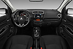 Stock photo of straight dashboard view of 2017 Mitsubishi Mirage-G4 SE-CVT 4 Door Sedan Dashboard
