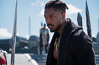 Black Panther (2018)<br /> Erik Killmonger (Michael B. Jordan).<br /> *Filmstill - Editorial Use Only*<br /> CAP/KFS<br /> Image supplied by Capital Pictures