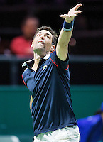 Februari 12, 2015, Netherlands, Rotterdam, Ahoy, ABN AMRO World Tennis Tournament, Jeremy Chardy (FRA)<br /> Photo: Tennisimages/Henk Koster
