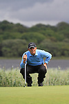 Francesco Molinari lines up his putt on the 10th on day three of the 3 Irish Open, at the Killarney Golf and Fishing Club, Killarney, Ireland.Picture Fran Caffrey/www.golffile.ie.