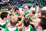 S&ouml;dert&auml;lje 2015-10-01 Basket Basketligan S&ouml;dert&auml;lje Kings - Uppsala Basket :  <br /> S&ouml;dert&auml;lje Kings Toni Bizaca , Skyler Bowlin , Samuel Berkelund , Nicholas Spires , Dino Pita och Aaron Anderson firar segern efter matchen mellan S&ouml;dert&auml;lje Kings och Uppsala Basket <br /> (Foto: Kenta J&ouml;nsson) Nyckelord:  Basket Basketligan S&ouml;dert&auml;lje Kings SBBK T&auml;ljehallen Uppsala Seriepremi&auml;r Premi&auml;r jubel gl&auml;dje lycka glad happy