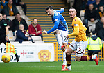 Motherwell v St Johnstone&hellip;20.10.18&hellip;   Fir Park    SPFL<br />Tony Watt&rsquo;s shot is saved by Trevor Carson<br />Picture by Graeme Hart. <br />Copyright Perthshire Picture Agency<br />Tel: 01738 623350  Mobile: 07990 594431