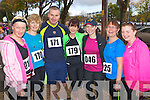 Pictured at the Tralee Carers 10k Mini Marathon at the Brandon Hotel on Sunday were from left: Tara Enright (Tralee) Jean Hanafin (Tralee) John Hanafin (Tralee) Gail Tangney (Tralee) Joanne Almond (Tralee) Mags O'Connor (Ardfert) and Fiona O'Connor (Tralee).