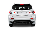 Straight rear view of a 2014 Infiniti QX60 Hybrid 5 Door SUV Rear View  stock images