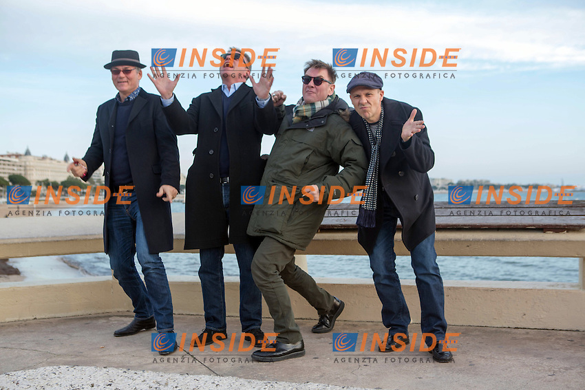 Photocall Madness, Croisette, MIDEM 2013.Jay Lee Thompson - Graham McPherson ( Suggs ) - Chas Smash - Chris Foreman .Cannes 28/1/2013 .Foto Nicolas Gavet / Panoramic / Insidefoto.ITALY ONLY