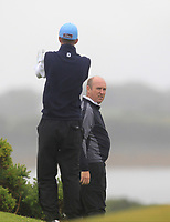 Luke O'Neill (Galway) and Joe Lyons (Galway) on the 17th fairway during the Connacht Semi-Final of the AIG Barton Shield at Galway Bay Golf Club, Galway, Co Galway. 11/08/2017<br /> Picture: Golffile | Thos Caffrey<br /> <br /> <br /> All photo usage must carry mandatory copyright credit     (&copy; Golffile | Thos Caffrey)