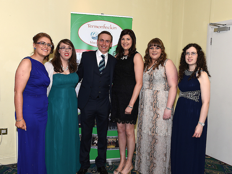 Committee members Marita Bayly, Helena Reynolds, Eamon Briscoe, Barbara Kirk, Aoife McEvoy and Mary Moran pictured at the Termonfeckin Macra reunion in the Boyne Valley hotel. Photo:Colin Bell/pressphotos.ie