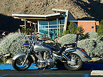 motorcycle at Tahquitz Canyon Visitor Center