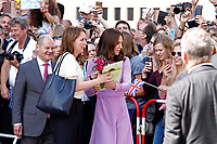 Kate, the Duchess of Cambridge, attends the Elbphilharmonie concert hall on July 21, 2017 in Hamburg, Germany.