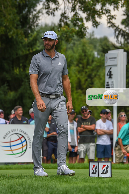 Dustin Johnson (USA) heads down 4 during 1st round of the World Golf Championships - Bridgestone Invitational, at the Firestone Country Club, Akron, Ohio. 8/2/2018.<br /> Picture: Golffile | Ken Murray<br /> <br /> <br /> All photo usage must carry mandatory copyright credit (© Golffile | Ken Murray)