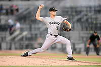 Pitcher Preston White (31) of the Augusta GreenJackets delivers a pitch in a game against the Columbia Fireflies on Thursday, July 11, 2019 at Segra Park in Columbia, South Carolina. Columbia won, 5-2. (Tom Priddy/Four Seam Images)