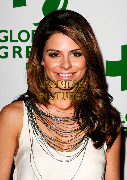 MARIA MENOUNOS.The 6th Annual Global Green USA Pre-Oscar Party benefiting Green Schools held at Avalon in Hollywood, California, USA. .February 19th, 2009 .headshot portrait silver necklaces .CAP/ROT.©Lee Roth/Roth Stock/Capital Pictures
