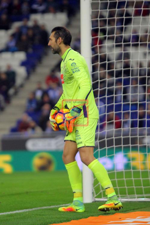 League Santander 2016/2017. Game: 13.<br /> RCD Espanyol vs CD Leganes: 3-0.<br /> Diego Lopez.