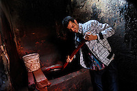 Mixing colours, Souks of Marrakesh, Morocco, Northern Africa, 2013