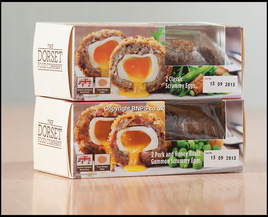 BNPS.co.uk (01202) 558833<br /> Picture: BNPS<br /> <br /> They've cracked it! <br /> <br /> A team of chefs have re-invented the traditional Scotch egg and swapped the hard boiled centre for a runny yolk.<br /> <br /> The modern twist on the British picnic favourite has finally been created after a year of testing different recipes to create a perfectly gooey middle. <br /> <br /> Excited Dorset Foods boss Tom Boyers described the breakthrough as 'the scotch egg equivilant of the moon landing'<br /> <br /> The tasty snack, dubbed the Scrummy Egg, is created by poaching an egg and then hand-rolling it in pork before coating it in breadcrumbs.
