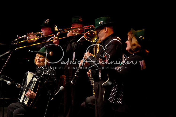 A group of musicians perform during the 20th year of the Tosco Music Party, held at the Overcash Academic and Performing Arts Center Dale F. Halton Theater Central Piedmont Community College. The annual event, named after John Tosco, owner of the Tosco Music Studio, is designed to showcase professional and amateur musicians.