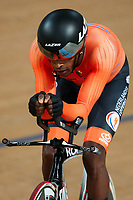 Picture by Alex Whitehead/SWpix.com - 24/03/2018 - Cycling - 2018 UCI Para-Cycling Track World Championships - Rio de Janeiro Municipal Velodrome, Barra da Tijuca, Brazil - Daniel Abraham Gebru of the Netherlands competes in the Men's C5 Individual Pursuit qualifying.