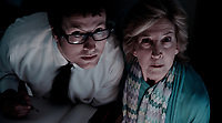 Insidious (2010)<br /> Leigh Whannell &amp; Lin Shaye<br /> *Filmstill - Editorial Use Only*<br /> CAP/KFS<br /> Image supplied by Capital Pictures