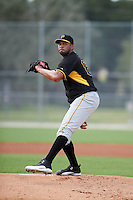 Pittsburgh Pirates pitcher Deolis Guerra (98) during an instructional league intrasquad black and gold game on October 2, 2015 at Pirate City in Bradenton, Florida.  (Mike Janes/Four Seam Images)