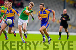 Robert Wharton South Kerry in Action against Sean Sheehan Kenmare in the County Senior Football Semi Final at Fitzgerald Stadium Killarney on Sunday.