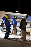 USA, Utah, Park City, learning the proper way to steer a luge sled, Utah Olympic Park
