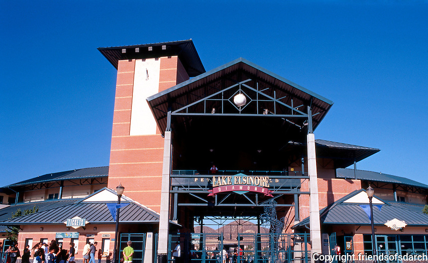 Ballparks: Lake Elsinore Diamond, Entrance. 1994: Architects, MNTB of Kansas City.