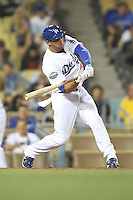 05/31/12 Los Angeles, CA: Los Angeles Dodgers second baseman Alex Castellanos #49 during an MLB game between the Milwaukee Brewers and the Los Angeles Dodgers played at Dodger Stadium. The Brewers defeated the Dodgers 6-2.