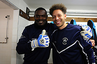 Haringey players relax before kick off during Haringey Borough vs AFC Wimbledon, Emirates FA Cup Football at Coles Park Stadium on 9th November 2018