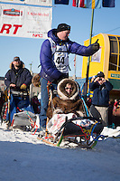 Mats Pettersson and team leave the ceremonial start line at 4th Avenue and D street in downtown Anchorage during the 2014 Iditarod race.<br /> Photo by Jim R. Kohl/IditarodPhotos.com