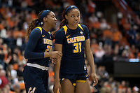 CORVALLIS, OR - February 26, 2017: Cal Bears Women's Basketball team vs. the Oregon State Beavers at Gill Coliseum. Final score, Cal Bears 56, Oregon State Beavers 71.