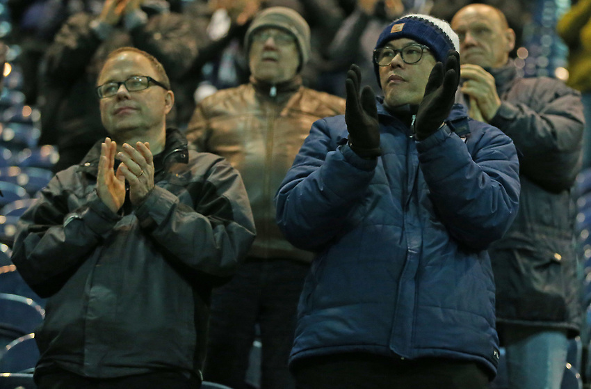 Preston North End fans applaud their team at the final whistle <br /> <br /> Photographer Stephen White/CameraSport<br /> <br /> The EFL Sky Bet Championship - Preston North End v Middlesbrough - Tuesday 27th November 2018 - Deepdale Stadium - Preston<br /> <br /> World Copyright © 2018 CameraSport. All rights reserved. 43 Linden Ave. Countesthorpe. Leicester. England. LE8 5PG - Tel: +44 (0) 116 277 4147 - admin@camerasport.com - www.camerasport.com<br /> <br /> Photographer Stephen White/CameraSport<br /> <br /> The EFL Sky Bet Championship - Preston North End v Middlesbrough - Tuesday 27th November 2018 - Deepdale Stadium - Preston<br /> <br /> World Copyright © 2018 CameraSport. All rights reserved. 43 Linden Ave. Countesthorpe. Leicester. England. LE8 5PG - Tel: +44 (0) 116 277 4147 - admin@camerasport.com - www.camerasport.com