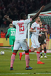 08.02.2019, RheinEnergieStadion, Koeln, GER, 2. FBL, 1.FC Koeln vs. FC St. Pauli,<br />  <br /> DFL regulations prohibit any use of photographs as image sequences and/or quasi-video<br /> <br /> im Bild / picture shows: <br /> Jhon Córdoba (FC Koeln #15),   freut sich ueber das Tor von Simon Terodde (FC Koeln #9), <br /> <br /> Foto © nordphoto / Meuter