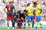 26.09.2015 Barcelona. La Liga day 6. Picture show Leo Messi in action during game between FC Barcelona against Las Palmas at Camp Nou.