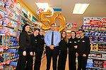Staff and Jonathan Smith store manager at the opening of the Dealz new store in Thomas Street, Dublin.<br /> <br /> Picture Newsfile/Professional Images