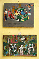 Mexican retablos or ex-votos. San Miguel de Allende, Mexico