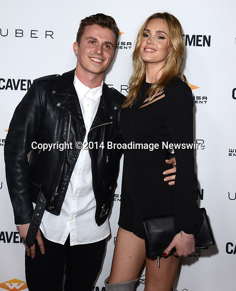 Pictured: Kenny Wormaland, Danielly Silva<br /> Mandatory Credit: Luiz Martinez / Broadimage<br /> CAVEMAN Los Angeles Premiere<br /> <br /> 2/5/14, Hollywood, California, United States of America<br /> Reference: 020514_LMLA_BDG_060<br /> <br /> sales@broadimage.com<br /> Bus: (310) 301-1027<br /> Fax: (646) 827-9134<br /> http://www.broadimage.com