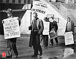 American Brass Co. employees on strike April 1, 1938.