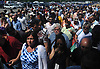 Crowds enter Belmont Park from West Paddock Gate during the 150th running of the Belmont Stakes on Saturday, June 9, 2018