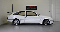 BNPS.co.uk (01202 558833)<br /> Pic: PPMMiltonKeynes/BNPS<br /> <br /> Distinctive profile...<br /> <br /> A pre-production prototype of the legendary Ford Sierra Cosworth RS500 has emerged for sale for a whopping £120,000.<br /> <br /> The RS500 was the road going version of Ford's iconic rally car with only 500 built in order to meet racing regulations.<br /> <br /> This one was the very first to be built in 1987 and in more recent times was road tested by Richard Hammond on the Grand Tour.