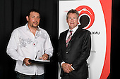 Service to Sport  recipient Tony Takurua with John Walker. Counties Manukau Sport 17th annual Sporting Excellence Awards held at the Telstra Clear Pacific Events Centre, Manukau City, on November 27th 2008.