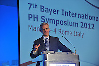 7th Bayer International PH Symposium 2012 in Rome Italy: Events of Saturday, March 3rd at the Ergife Palace hotel.