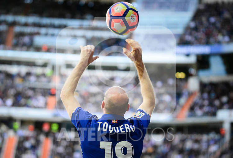 Deportivo Alaves's Gaizka Toquero during La Liga match between Real Madrid and Deportivo Alaves at Stadium Santiago Bernabeu in Madrid, Spain. April 02, 2017. (ALTERPHOTOS/BorjaB.Hojas)