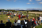Kerry Bog Pony Show- Billy and Kitty Cotter make some hard descisions as they judge  the 1st Kerry Bog Pony Show in the Kery Bog Village at Glenbeigh, County Kerry.<br /> Picture by Don MacMonagle
