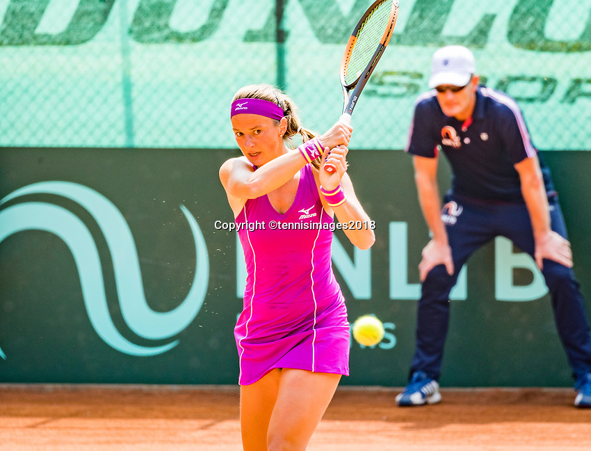 The Hague, Netherlands, 10 June, 2018, Tennis, Play-Offs Competition, Quirine Lemoine (NED)<br /> Photo: Henk Koster/tennisimages.com